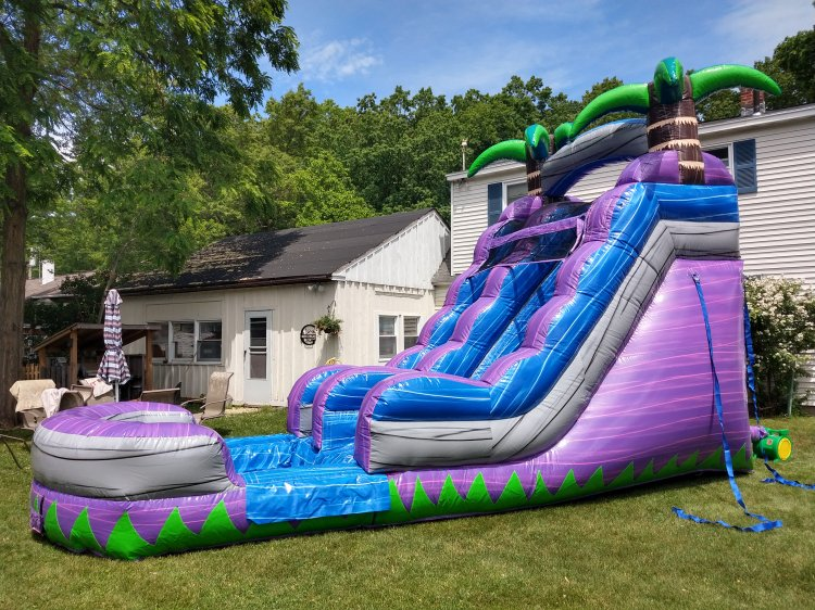 15' Water Slide with pool